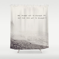 we travel Shower Curtain by Sylvia Cook Photography
