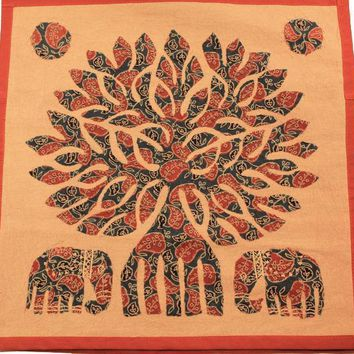 Applicae Tree of Life & Elephant Throw Pillow Covers