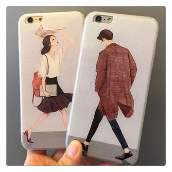 Hot Deal Stylish Hot Sale Cute On Sale Iphone 6/6s Couple Iphone Apple Soft Phone Case [8864261959]