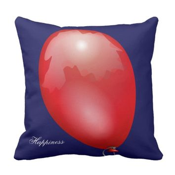 Red toy balloon funny unique throw pillow
