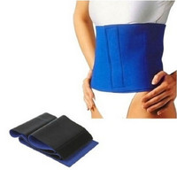 Waist Belly Belt Body Trim Wrap Cellulite Fat Burn Sweat Slim Sauna Exercise (Color: Blue) = 1706409028