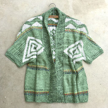 November Knit Cardigan in Green
