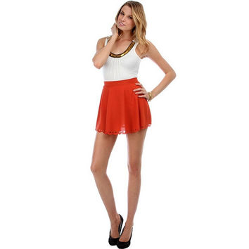 Heart Cutout Circle Skirt