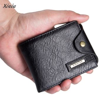 xiniu Mens Leather ID Card Holder Billfold Zip Purse Wallet Clutch men wallets wallet men carteira masculina