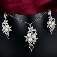 Fashion Jewelry Set High Quality Accessory Earring & Necklace = 4558935172