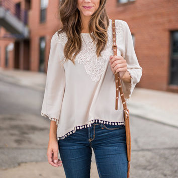 Down To The Last Detail Blouse, Ivory