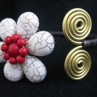 Stone Flower Bracelet | terramaria - Jewelry on ArtFire