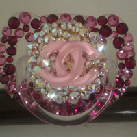 Swarovski Crystal Baby Pacifier by PinkKittyCases on Etsy