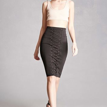 Strappy Pencil Skirt