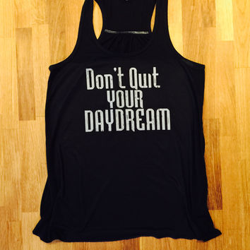 Don't Quite Your Daydream Flowy Racerback, Tank Top