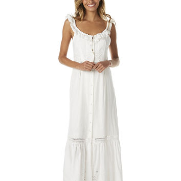 SOMEDAYS LOVIN SKY MIGHT FALL WOMENS MIDI DRESS - OFF WHITE