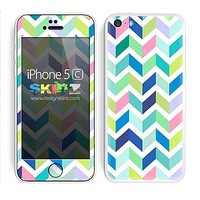 Multiple Colored Chevron Pattern Segments V9 Print Skin For The iPhone 5c