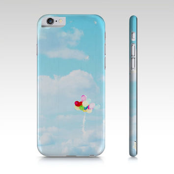 Balloons Phone Case - iPhone 5 5S 6 6S - Rainbow Colors - Pastel Phone Cover - iPad Mini - Samsung Galaxy S4 S5 - Sky Phone Cover