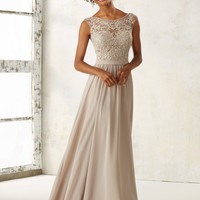 Chiffon Bridesmaid Dress with Embroidery | Style 21522 | Morilee