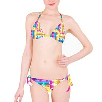 Triangle Checker_MirandaMol Pinkcess Bikini Set