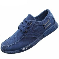 Men's Solid Colored Casual Canvas Shoes