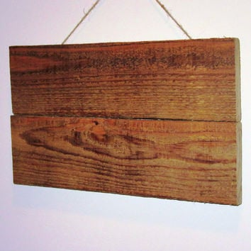 "Reclaimed wood blank sign, Stained 13""X7 3/4"" Wood Canvas, Rustic Wall Art,Pallet Wood Canvas, Photography Backdrop, Rustic Decor"