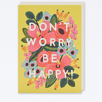 Don't Worry Be Happy Card - Urban Outfitters