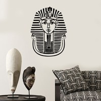 Wall Decal Pharaon Tutankhamun King Ancient Egypt Egyptian Vinyl Stickers Unique Gift (ig1600)