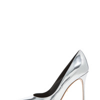 Godiva Patent Leather Pumps in Silver