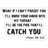 Pierce the Veil Caraphernelia lyric