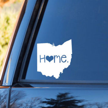 Ohio Home Decal | Ohio Decal | Homestate Decals | Love Sticker | Love Decal  | Car Decal | Car Stickers | 075