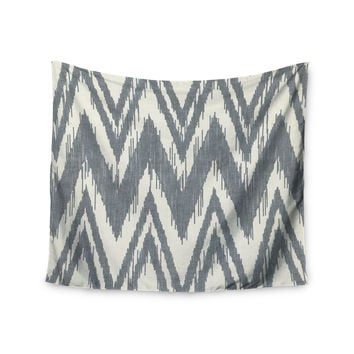 "Heidi Jennings ""Tribal Chevron Gray"" Wall Tapestry"
