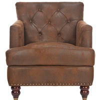 Safavieh Colin Tufted Club Chair - Brown