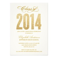 Sparkle Graduation Invitation