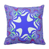 Blue Retro Cross Pillow