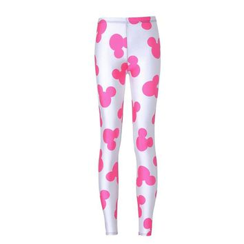 New Fashion spring and autumn adventure time fitness women leggings 2018 mickey leggings casual workout printing leggings