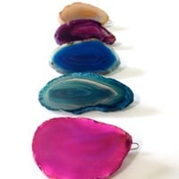 Handcrafted Agate Slice Hair Barrette - Availabe in Many Colors