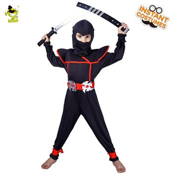 Fashion Ninja Costumes Halloween Classical Anime Hero Naruto Cosplay Outfit Carnival Cool Warrior show Clothing for Kids