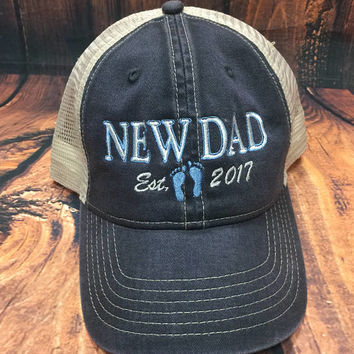New Dad Trucker Cap - New Baby Birth Announcement Father's Day