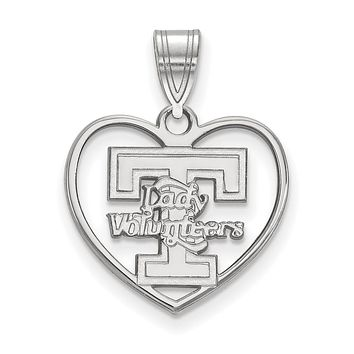 NCAA Sterling Silver U. of Tennessee Heart Pendant Necklace