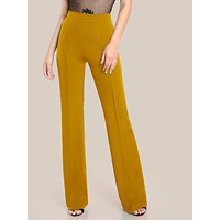 High Rise Piped Dress Pants