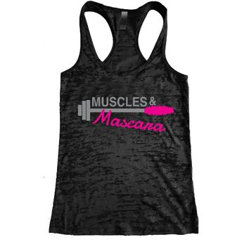 Muscles & Mascara Burnout Racerback Tank - Workout tank Women's Exercise Motivation for the Gym