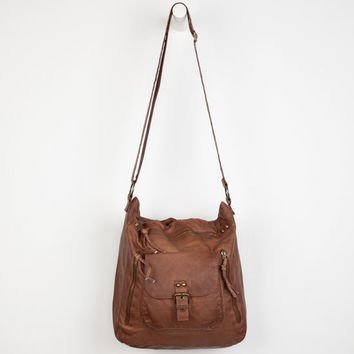 T-Shirt & Jeans Oil Washed Crossbody Bag Cognac One Size For Women 24210840901