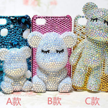 Iphone5 case 3D Crystal iPhone 4S case bling  swarovski iphone4 cases samsung galaxy s4 case bling samsung galaxy s3 note 2 case