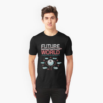 '1982 EPCOT Center Future World Map' T-Shirt by retrocot