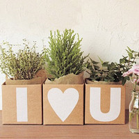 $3.90 Korea Diy Kraft Square Favour Letters Boxes