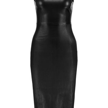 Iris and Ink Anastasia stretch-leather midi dress – 0% at THE OUTNET.COM