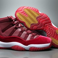 "Air Jordan 11 Velvet "" Heiress "" Basketball Sneaker"