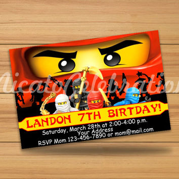 Ninjago Design Invitation - Digital File