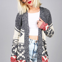 Nordic Geo Cardigan | Knit Cardigans at Pink Ice