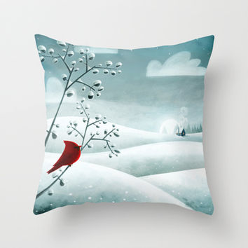 Cardinal by Friztin Throw Pillow by friztin