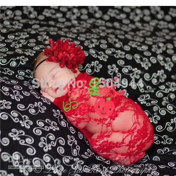 70*50cm, lace wraps with stretch,newborn photography props,baby shower,swaddlings,lady dress Excluding headdress flower,