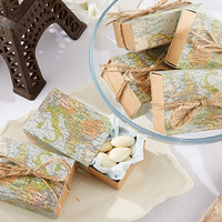World Map Favor Box (Set of 24)