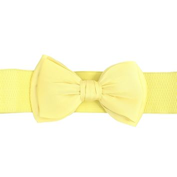 Dancing Days 50's Bella Bow Belt Vinateg Retro pin-up Bow Elastic Cinch belt