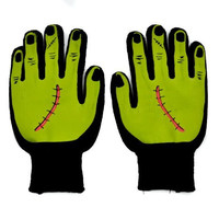 Monster Frankenstein Work Gloves Gothic Punk Halloween Cosplay